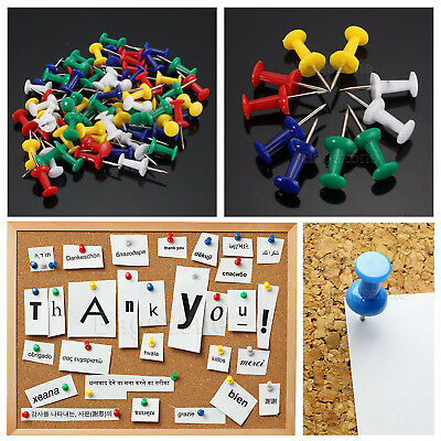 Multi-Coloured Push Drawing Pins Notice Cork Board Assorted Pack Multi-Coloured