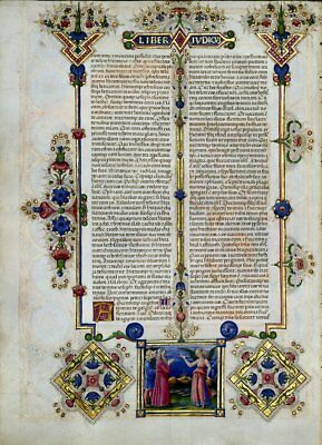 Bible of Borso D'Este Illuminated Manuscript Accented in Gold NEW
