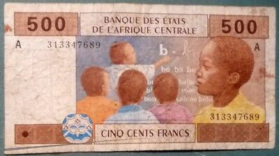 Central  African States 500 Francs Note From 2002,  Letter A , Gabon, P 406 A