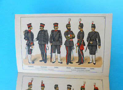 JAPAN ARMY - original vintage book ( lithography ) issued 1895. in Germany RRRR