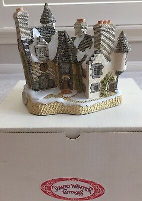 DAVID WINTER COTTAGES CHRISTMAS IN SCOTLAND & HOGMANY (1988) with COA and Box
