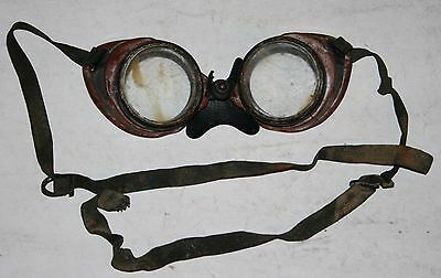 Vintage Willson Clear Glass Lens Goggles Vintage Motorcycle Industrial Safety