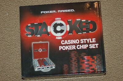 STACKED ~ 200 POKER CHIP SET~ NEW~ CASINO STYLE~ Daniel Negreanu professional