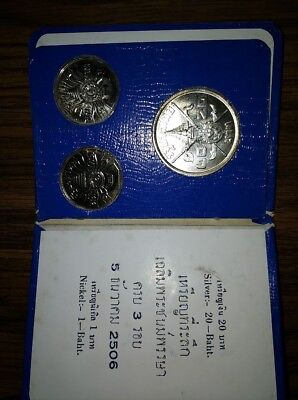 Rare 1963 Royal Thai Mint Commemorative Silver Coin Set