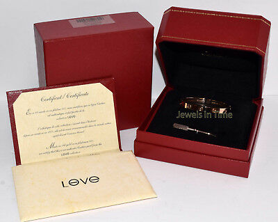 Cartier Love Bracelet 17 18k Rose Gold Box/Certificate/Screwdriver NEW B6035617