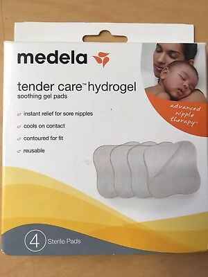 Medela Soothing Gel Pads Breastfeeding 4 Ct Hydrogel Pads Nipple Therapy Reuseab
