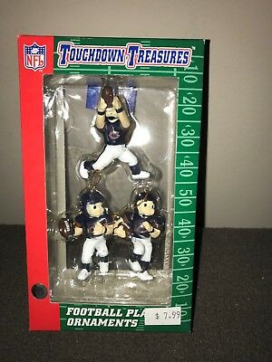 Vintage NFL Touchdown Treasures CHICAGO BEARS Football Player XMAS Ornaments