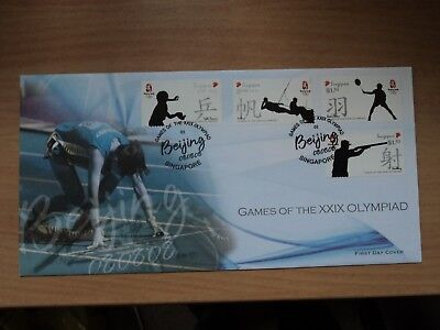 Singapore 8 Aug 2008 Olympic Games, Beijing FDC SG 1790 - 1793