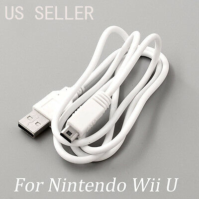 Usb Data Sync Charger Cable Lead For Nintendo Wii U Gamepad Controller