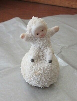 Antique Snow Baby Sitting On Snowball