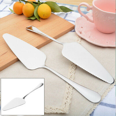 Stainless Steel Slice Serving Toothed Cutlery Tools Pizza Pie Cake Server