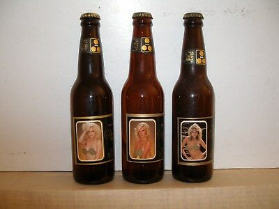 NUDE BEER, 3 bottles, 12 oz glass with crowns ...