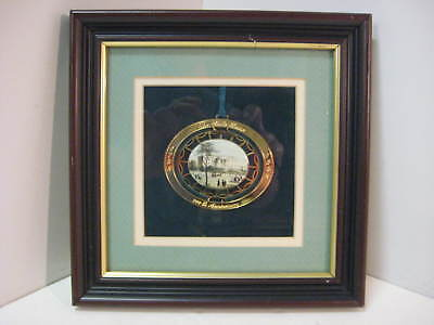 White House Christmas Ornament 1992 Expertly Framed!