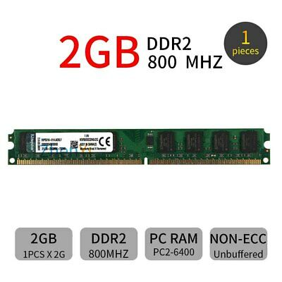 2GB PC2-6400U DIMM DDR2 800MHz 240Pin Desktop PC narrow Memory For Kingston ZT