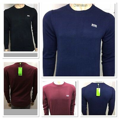 New Hugo Boss Crew Neck Long Sleeve Jumper For Men Comfortable For Winter