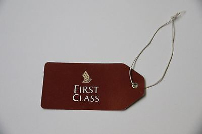 Singapore Airlines First Class Luggage Baggage Suitcase Tag New