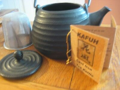 "6"" Japanese Cast Iron Tetsubin Tea Kettle - KAFUH"