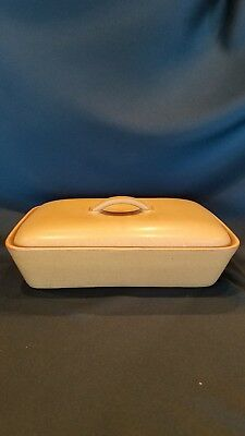 Denby ODE Stoneware Rectangular Covered Divided Vegetable Dish EXC