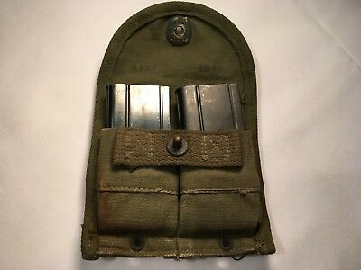 Original WW2 M1 Carbine Magazines & Pouch Marked KSG and Ajay 1945