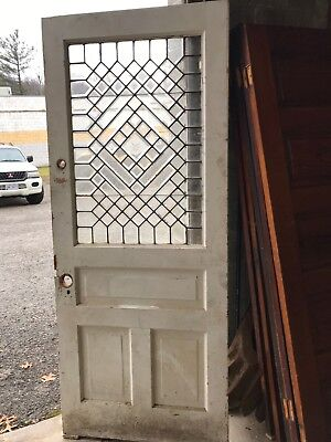 MAR266 antique all beveled glass entrance door 33 3/8 x 81.25