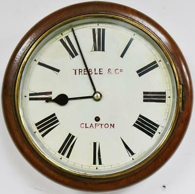 Antique 8Day W&H Dial Wall Clock German Timepiece Movement Station Kitchen Clock