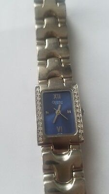 Caravelle by Bulova Women's 43L38 Crystal Accented Blue Dial Watch