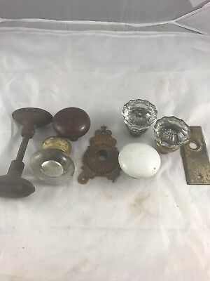Lot Of Antique Door Knobs Doorknobs Hardware Collectible Glass Porcelain
