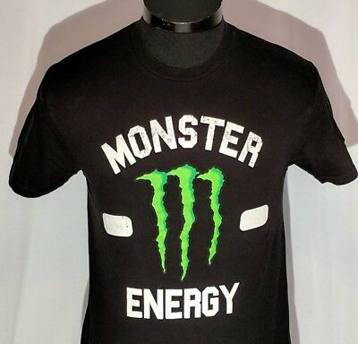 Monster Energy Drink T-shirt Men's Size Small Black With Large Green M