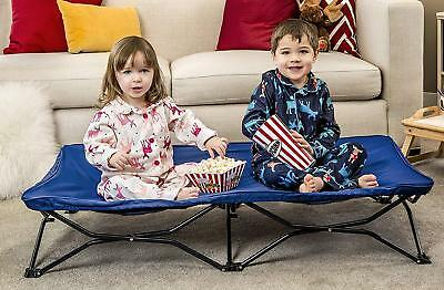 Regalo My Cot Portable Toddler Bed, Includes Fitted Sheet and Travel Case, Blue