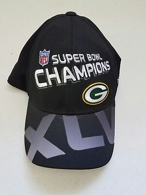 Green Bay Packers Super Bowl XLV 45 Champions Official NFL Reebok Cap Hat 38bcd9ef9