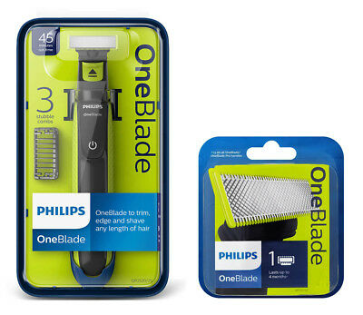 Philips OneBlade Electric Razor [QP2520/25] & 1 Blade Pack [QP210/50] 45 Minutes