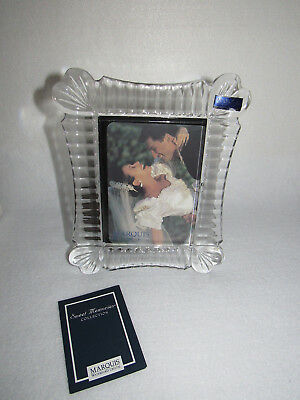 """""""sweet Memories"""" Waterford Crystal Marquis 3.5X 5 Picture Frame - Mib"""