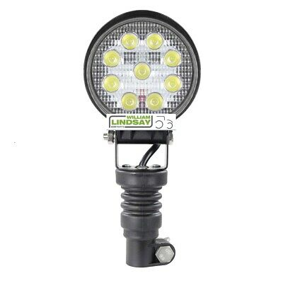 Beacon Pole Mounted LED Work Lamp c/w Rubber Pole Mount Fit Extra Work Lamps