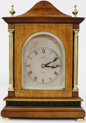 Antique Dent 8 Day Striking Carriage Clock Silvered Dial Miniature Bracket Clock