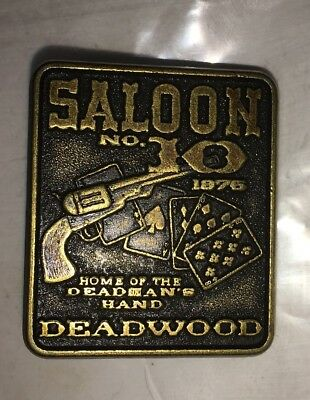 Saloon No. 10 Deadwood South Dakota Lapel Hat Pin Home Of The Deadman's Hand