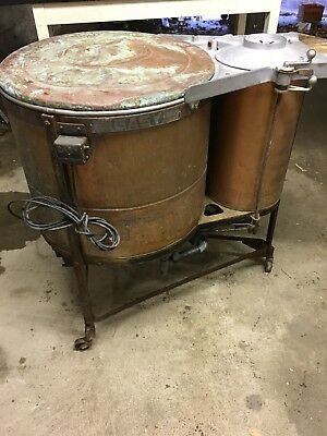 Antique Easy Washing Machine Copper And Stainless w/Spinner Awesome Still Works