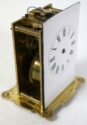 Antique French 8 Day Carriage Mantel Clock Movement, Spare Movement Balance Good