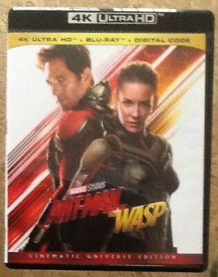 Marvel Ant Man and the Wasp 4K Ultra HD Disc + Cover Art + Case Only