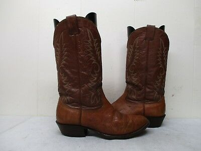 134b7b083b0 NOCONA BROWN LEATHER Cowboy Boots Mens Size 9.5 EE Style 3717C USA