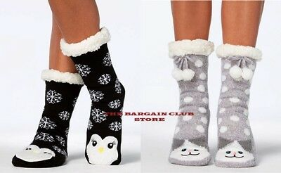 charter club Women's socks slippers Cat OR penguin L/XL