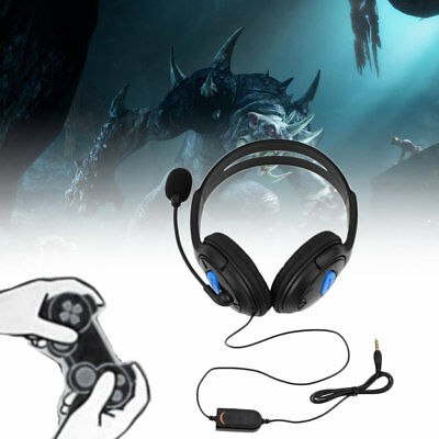 3.5mm Gaming Headset Mic LED Headphones Stereo Surround for PC Laptop PS4 Xbox@&