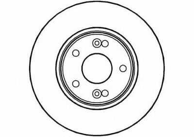 Front Vented Brake Discs Renault Scenic 1.9 dCi MPV 2003-09 120HP 280mm