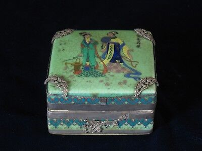 Sealed Qing Dynasty (Qianlong 1711~1799) Cosmetics Container / Box / Case