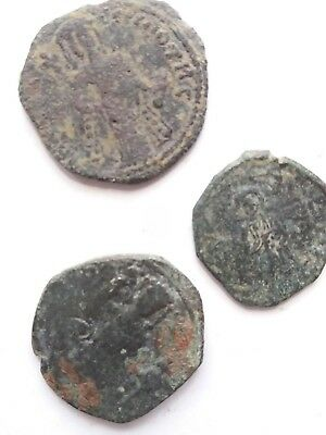 Byzantine coin bronze. Lot of 3 coins.