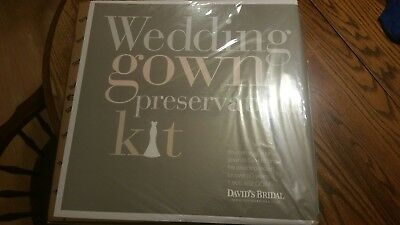 New In Box David's Bridal Wedding Gown Preservation Kit- Retail $189