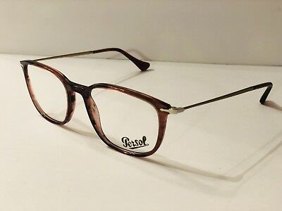 50a12a85c9360 Authentic Persol Eyeglasses PO3146V 1054 Striped Cherry Frames 53MM Rx-ABLE