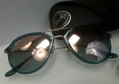 c75729b46a20c Ray Ban NWT Sunglasses RB4253 6236 7Y Turquoise Frame Copper Lens 50MM GLASS