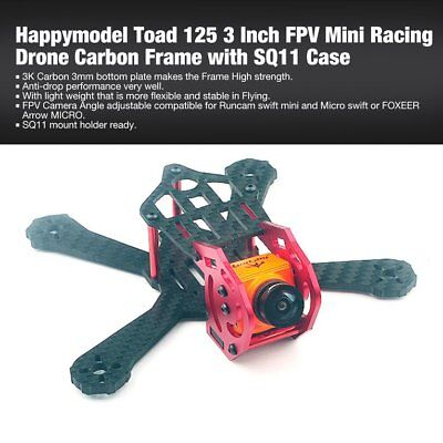 Happymodel Toad 125 3 Inch FPV Mini Racing Drone Carbon Frame with SQ11 C ZU