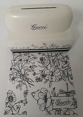 cc399ca932d New White Gucci Eyeglass Hard FLORAL FLOWER Case Shell cloth black velvet GG
