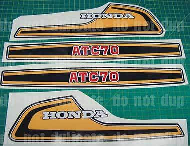 1974 74' ATC 70 honda 12pc ATV Stickers Decals vintage Graphics kit k1